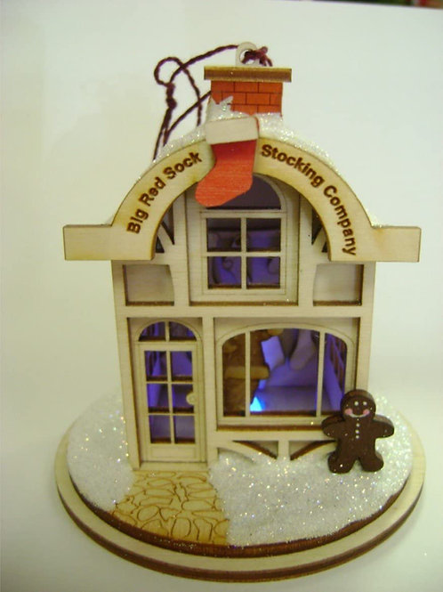 Big Red Stocking Company ..... Ginger Cottages Figurine / Ornament