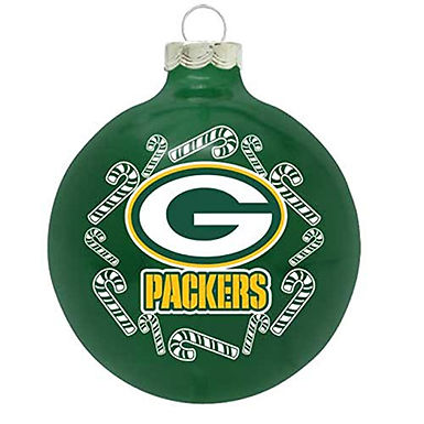 Packers Candy Cane Ball Ornament