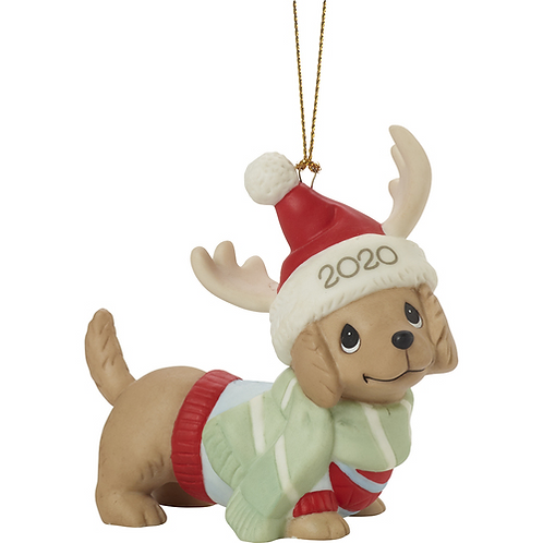 Dachshund Through The Snow 2020 Dated Dog Ornament