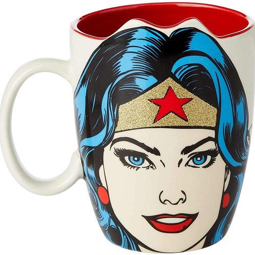 16oz .....  DC Comics Wonder Woman Sculpt Mug  ..... by Our Name Is Mud
