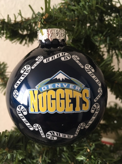 Nuggets Candy Cane Ball Ornament