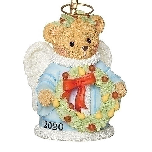 Dated 2020 Cherished Teddies Angel Bell Ornament