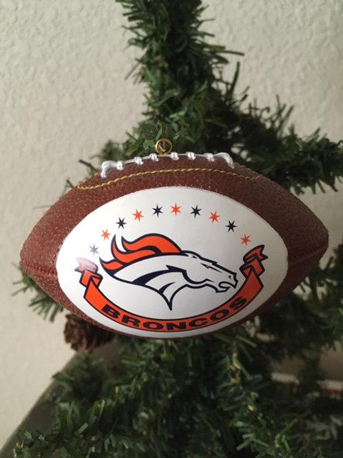 Broncos Replica Football Ornament - Retired Design