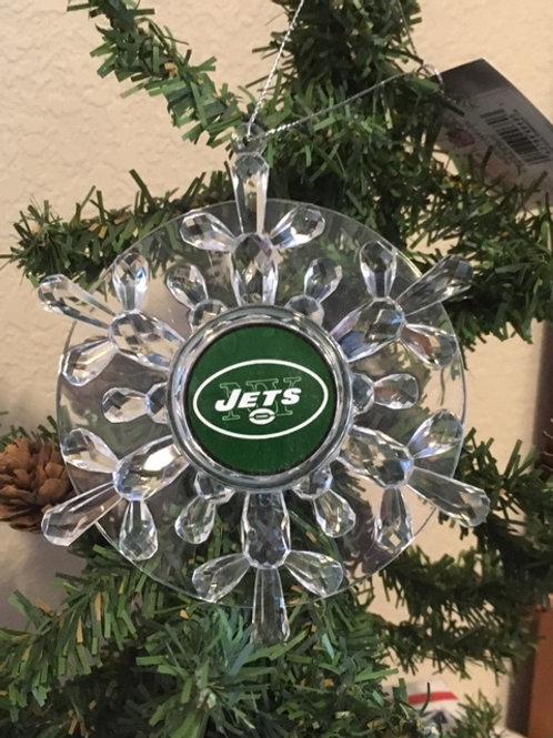 Jets Acylic Snowflake - Cut Crystal Design Ornament