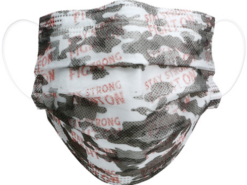 Disposable Face Masks - Pink Camo - Set of 7