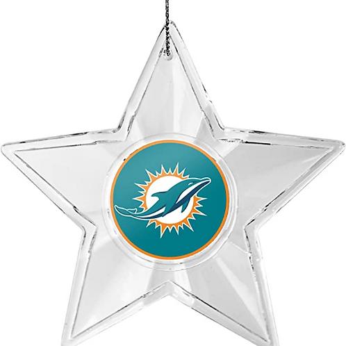 Dolphins Acylic Star - Cut Crystal Design Ornament