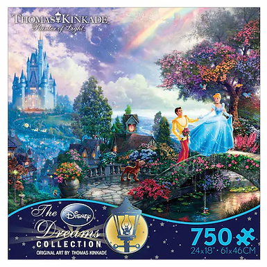 750 pcs. Disney Cinderella Puzzle  by  Thomas Kinkade