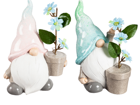 LED Gnomes with Flowers