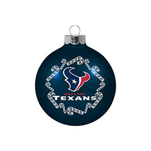 Texans Candy Cane Ball Ornament