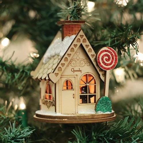 Goody Goody Gum Drop Shop  ..... Ginger Cottages Figurine / Ornament