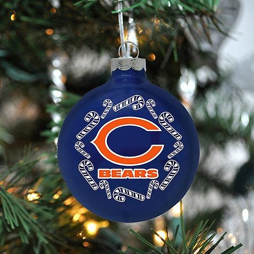 Bears Candy Cane Ball Ornament