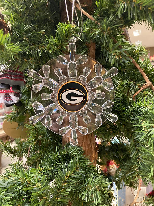 Packers Snowflake Ornament