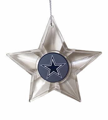 Cowboys Acylic Star - Cut Crystal Design Ornament