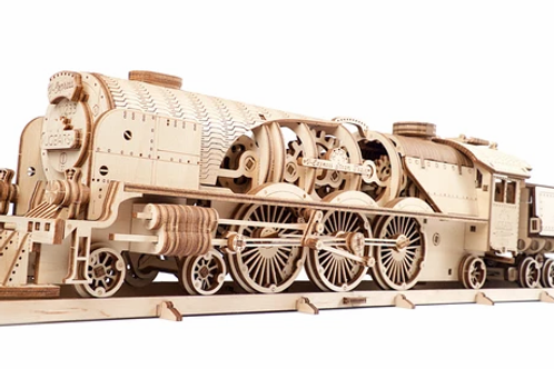 Ugears V-Express Steam Train with Tender  ........  model kit