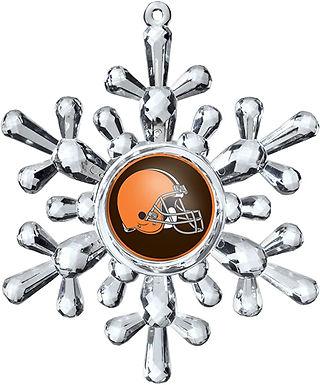 Browns Acylic Snowflake - Cut Crystal Design Ornament
