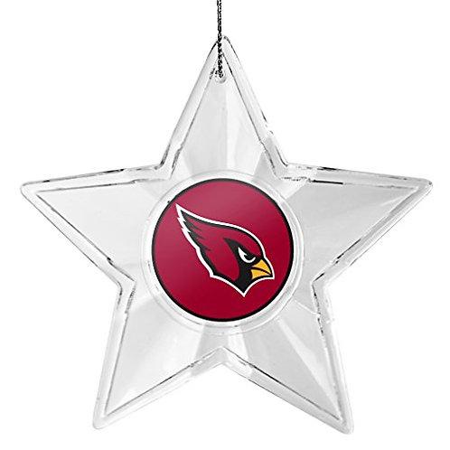 Cardinals Acylic Star - Cut Crystal Design Ornament