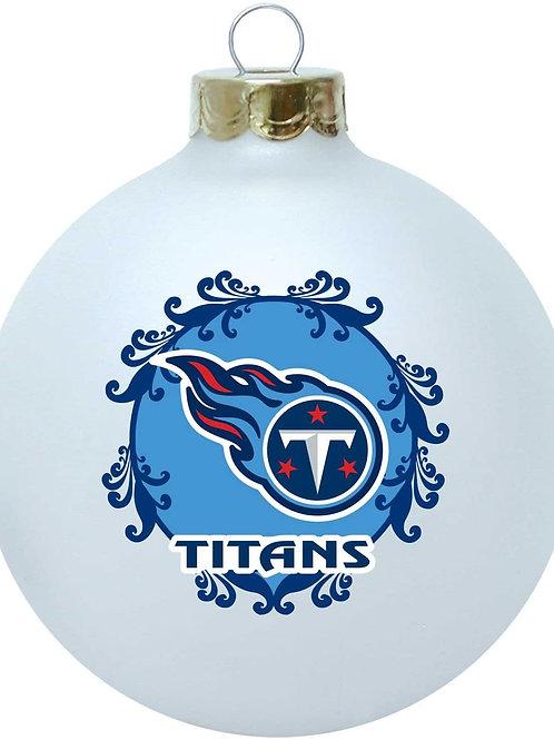 Titans Large Glass Ball Ornament