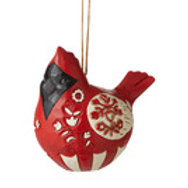 """Rolo Poly Cardinal""  (Nordic Noel Cardinal Orn) .... Nordic Noel by Jim Shore"