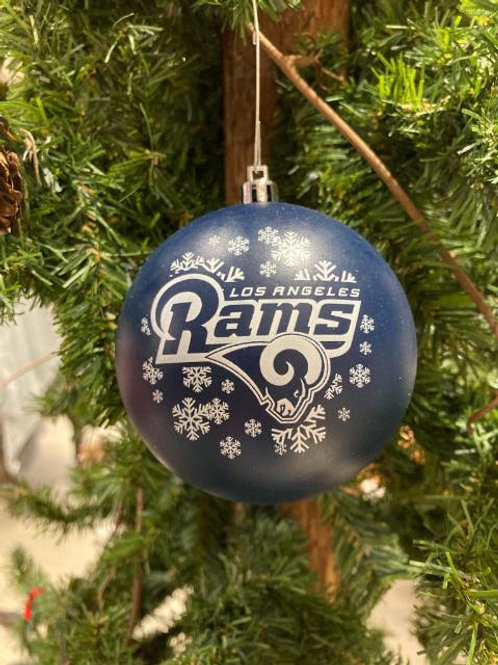Rams Shatter-Proof Ball Ornament