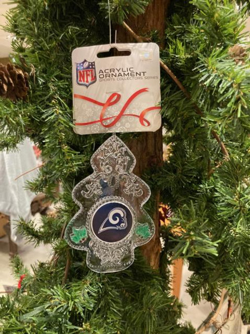 Rams Acylic Tree - Cut Crystal Design Ornament