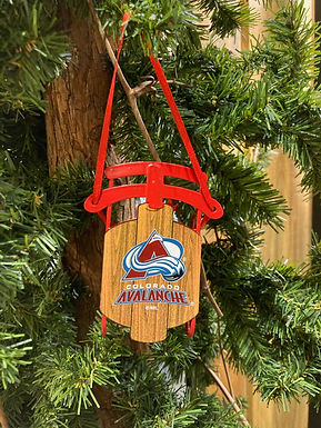 Avalanche Metal Sled Ornament