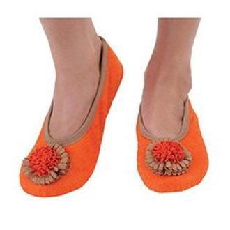 Snoozies Size Womens Medium - Flower Toe Mandrian Orange     DS-013O