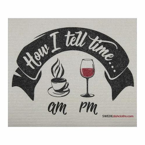 How I Tell Time ....... Swedish Dishcloth