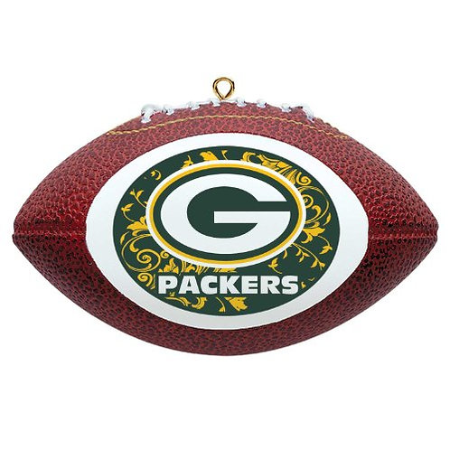 Packers Replica Football With Rounded Logo Ornament