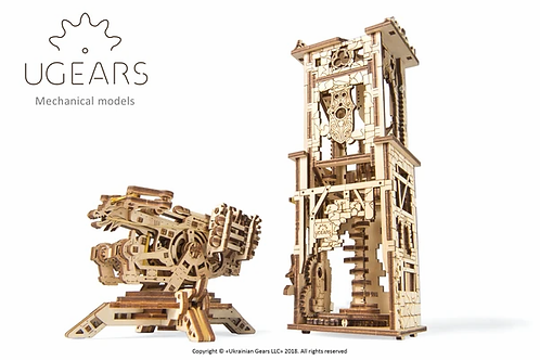 Ugears Archballista & Tower ........ Wood Model Kit