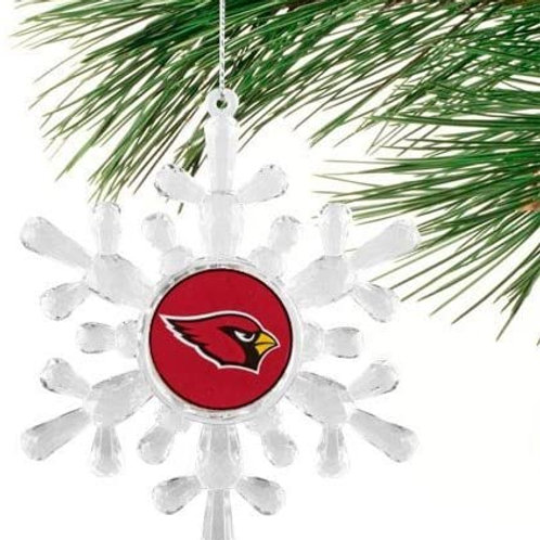 Cardinals Acylic Snowflake - Cut Crystal Design Ornament