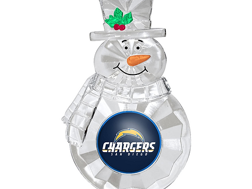 Chargers Acylic Snowman - Cut Crystal Design Ornament