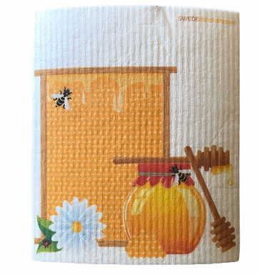 Honey Cone & Jar .......... Swedish Dishcloth