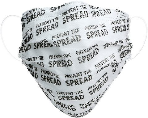 Disposable Face Masks - Prevent the Spread - Set of 7