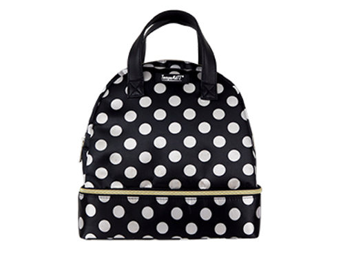 TempaMATE Thermal Tote - Black With White Dots