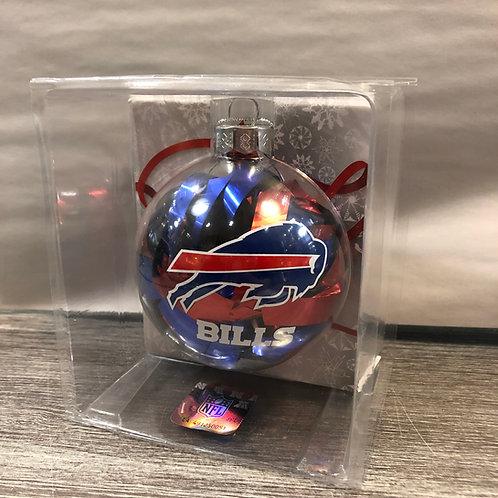 Bills Tinsel Ball Ornament