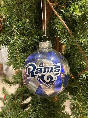 Rams Tinsel Ball Ornament