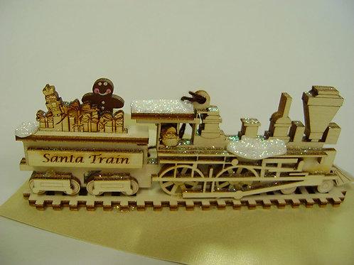 The Santa Train ..... Ginger Cottages Figurine / Ornament