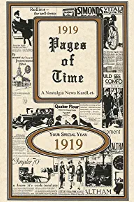 1919 Pages of Time..... A Nostagial New KardLet