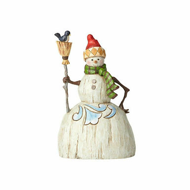 Folklore Snowman with Broom
