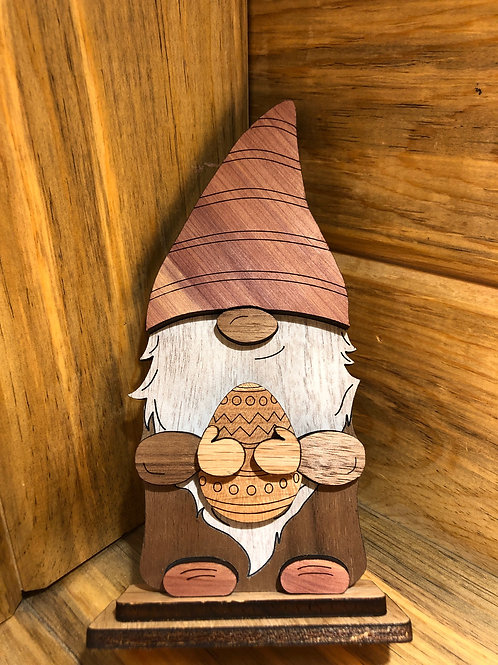 Wooden Easter Gnome