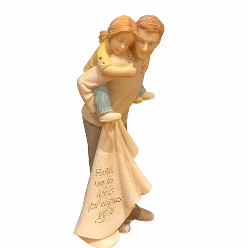 Dad & Daughter Mini Figurine ..... Foundations by Karen Hahn