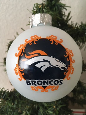 Broncos Large Ball Ornament