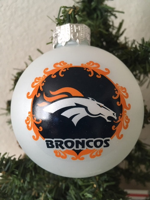 Broncos Large Ball Ornament