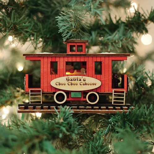 Santa's North Pole Express Caboose ..... Ginger Cottages Figurine / Orname