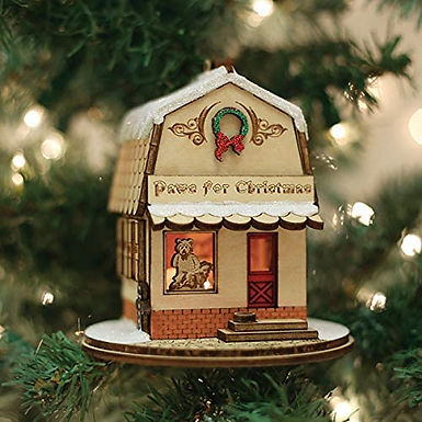 Paws for Christmas Pet Shop ..... Ginger Cottages Figurine / Ornament