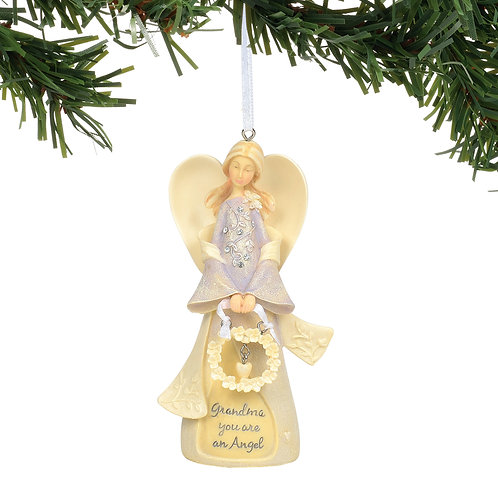 Grandma Angel Ornament ..... Foundations by Karen Hahn