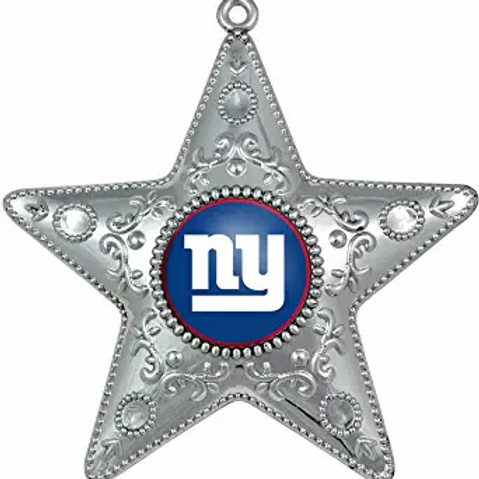 Giants Silver Star Ornament