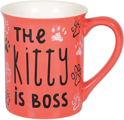 "16oz .....   ""The Kitty Is Boss"" Mug ..... by Our Name Is Mud"