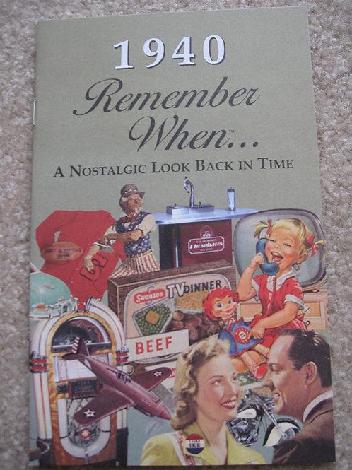 1940 Remember When Kardlet