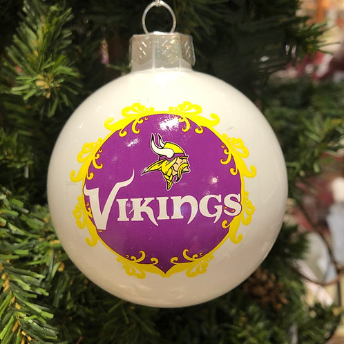 Vikings Large Ball Ornament